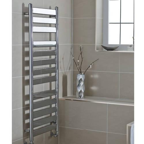 Additional image for Newark Heated Towel Rail 500W x 1306H mm (Chrome).