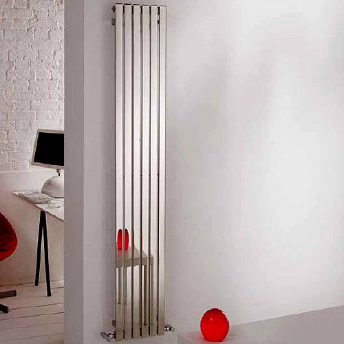 Additional image for Florida Vertical Radiator 390W x 1800H mm (Stainless Steel).