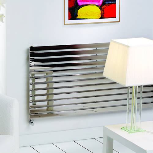 Additional image for Florida Vertical Radiator 590W x 600H mm (Stainless Steel).