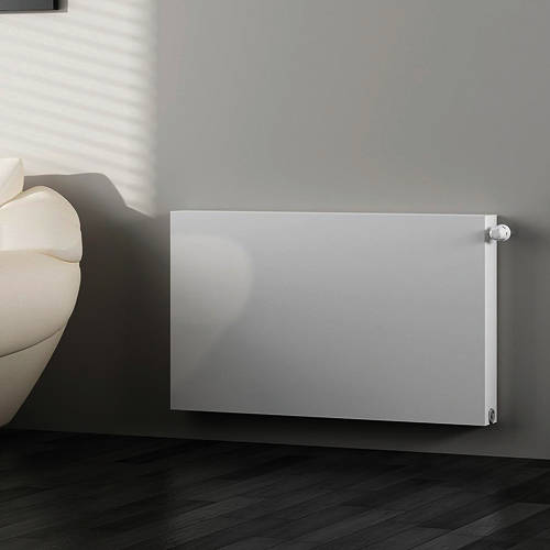 Additional image for Kompact Horizontal Radiator 600x400mm (DC, White).