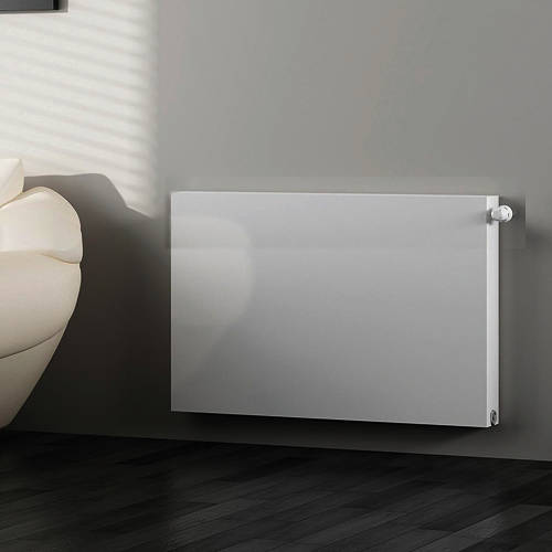 Additional image for Kompact Horizontal Radiator 600x500mm (DC, White).