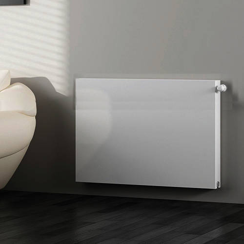 Additional image for Kompact Horizontal Radiator 600x600mm (DC, White).