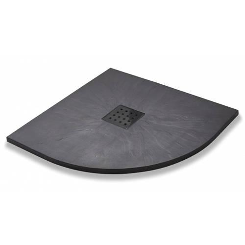 Additional image for Quadrant Shower Tray & Graphite Waste 900mm (Graphite).