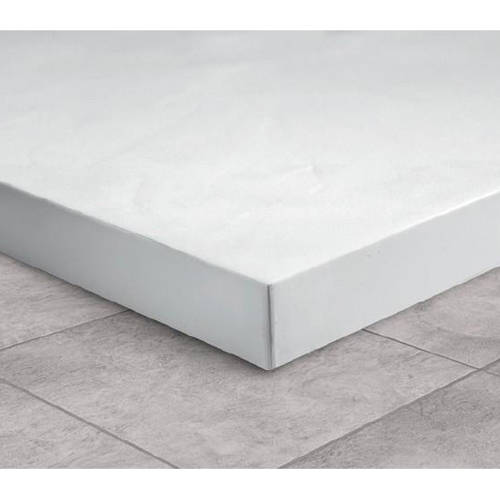 Additional image for Rectangular Shower Tray & Graphite Waste 1200x900 (White).