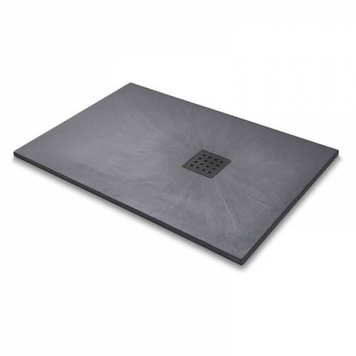 Additional image for Rectangular Shower Tray & Graphite Waste 1400x900 (Graphite).