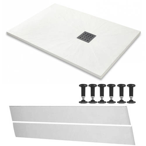 Additional image for Rectangular Easy Plumb Shower Tray & Waste 1700x900 (White).