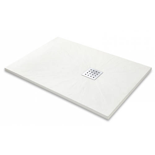 Additional image for Rectangular Shower Tray & Chrome Waste 1700x900 (White).