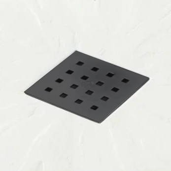 Additional image for Square Shower Tray & Graphite Waste 800x800 (White).