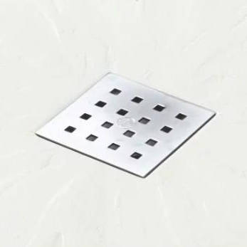 Additional image for Square Shower Tray & Chrome Waste 800x800 (White).