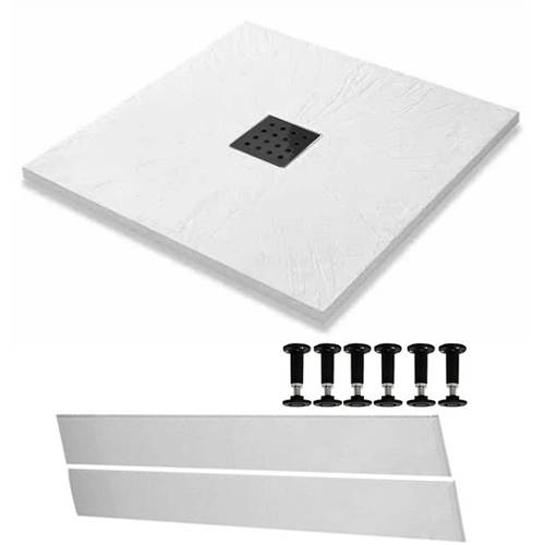 Additional image for Easy Plumb Square Shower Tray & Waste 900x900 (White).