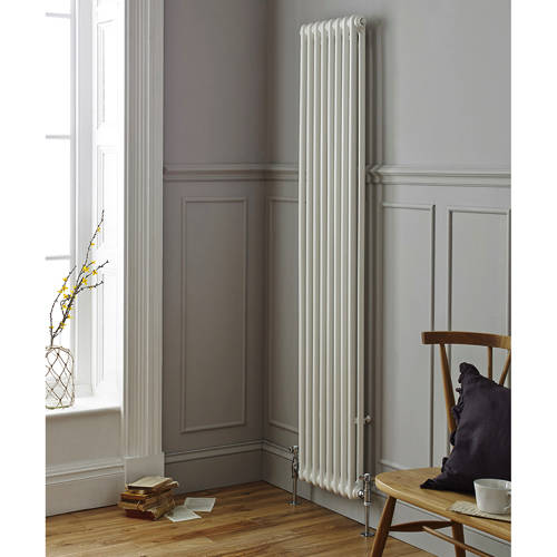Additional image for Laser Klassic Vertical Radiator 335x1800mm (2 Col, White).