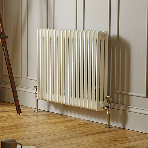 Additional image for Laser Klassic Horizontal Radiator 650x600mm (3 Col, White).