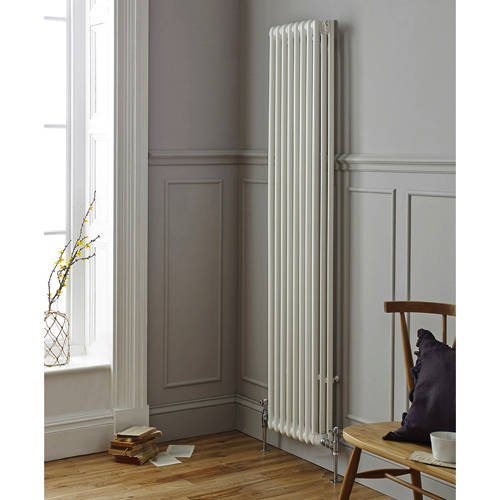 Additional image for Laser Klassic Vertical Radiator 425x1800mm (3 Col, White).