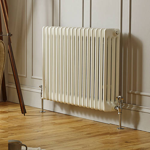 Additional image for Laser Klassic Horizontal Radiator 830x400mm (4 Col, White).