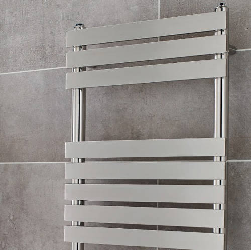 Additional image for Memphis Heated Towel Rail 600W x 1200H mm (Chrome).