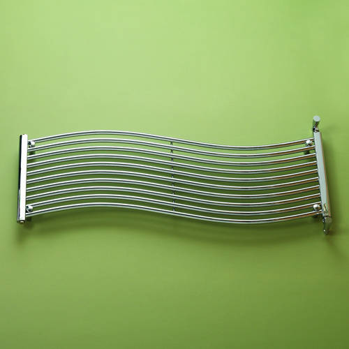 Additional image for Miami Heated Towel Rail 1400W x 450H mm (Chrome).