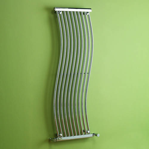Additional image for Miami Heated Towel Rail 450W x 1400H mm (Chrome).