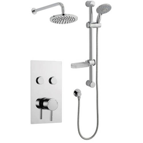 Additional image for Push Shower Valve, Slide Rail Kit With Head & Arm (Option 10).