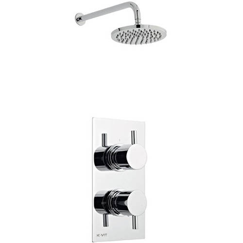 Additional image for Shower Valve, Round Head & Wall Mounting Arm (Option 2).