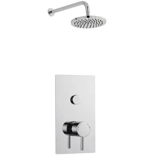 Additional image for Push Shower Valve, Round Head & Wall Mounting Arm (Option 9).