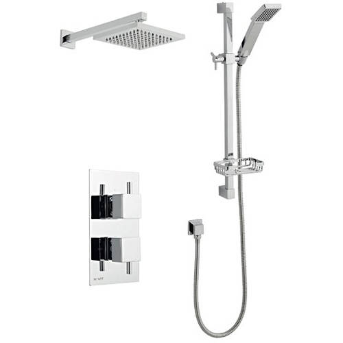 Additional image for Shower Valve, Slide Rail Kit With Head & Arm (Option 3).