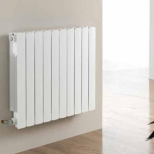 Additional image for Vermont Aluminium Radiator 640W x 681H mm (White).