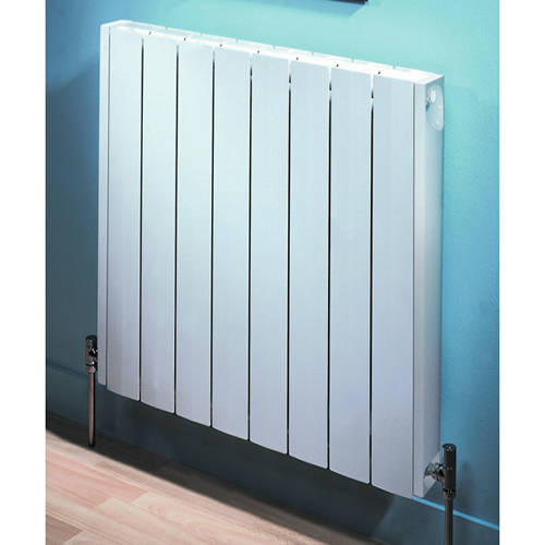 Additional image for Vermont Aluminium Radiator 800W x 681H mm (White).