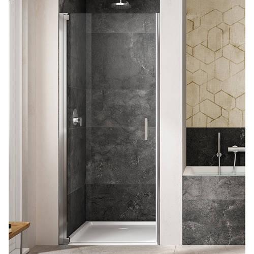 Additional image for Amare Semi-Frameless Pivot Shower Door (700x2000mm, LH).