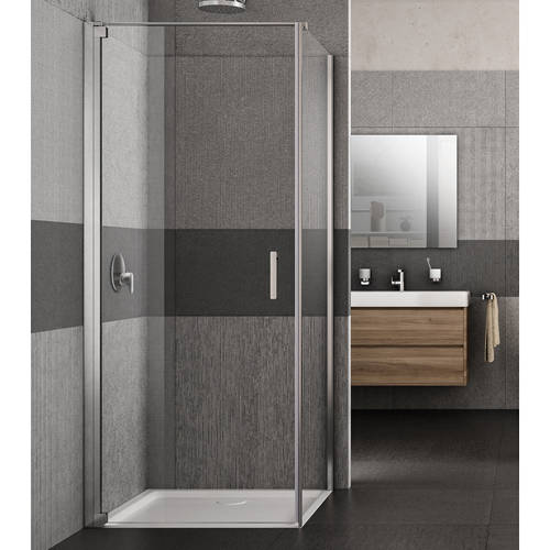 Additional image for Vivo Shower Enclosure With Pivot Door (800x700x2000mm, LH).