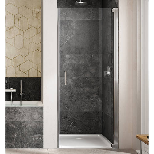 Additional image for Amare Semi-Frameless Pivot Shower Door (1000x2000mm, RH).