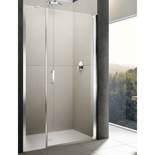 Additional image for Diletto Pivot Shower Door & In-Line Panel (1100x2000mm, RH).