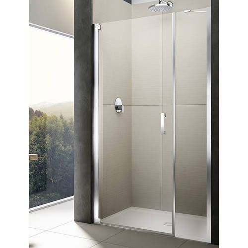Additional image for Diletto Pivot Shower Door & In-Line Panel (1600x2000mm, LH).
