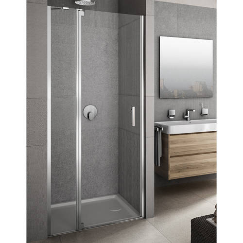 Additional image for Vivere Shower Door With In-Line Panel (1400x2000mm, LH).