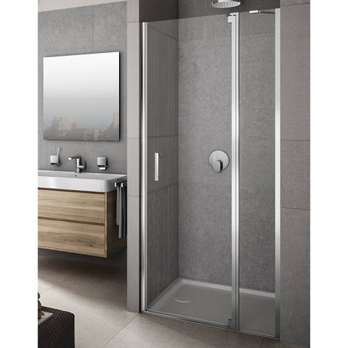 Additional image for Vivere Shower Door With In-Line Panel (1400x2000mm, RH).
