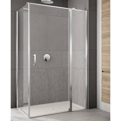 Additional image for Rilassa Shower Enclosure (1400x1200x2000mm, RH).