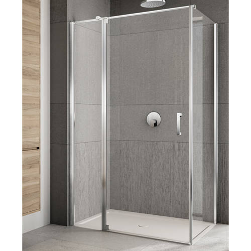 Additional image for Rilassa Shower Enclosure (1600x750x2000mm, LH).