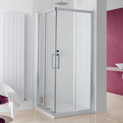 Additional image for Malmo Corner Entry Shower Enclosure 1000x1000x2000.
