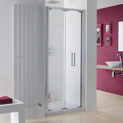 Additional image for Bergen Bi-Fold Shower Door With 8mm Glass (700x2000mm).