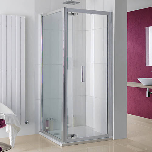 Additional image for Bergen Shower Enclosure With Bi-Fold Door (900x800x2000).