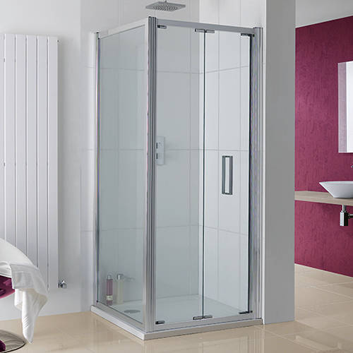 Additional image for Bergen Shower Enclosure With Bi-Fold Door 1000x1000x2000.