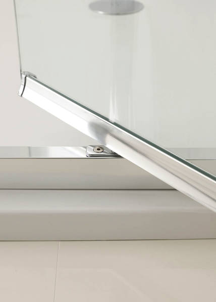 Additional image for Narva Pivot Shower Door With 8mm Glass (800x2000mm).