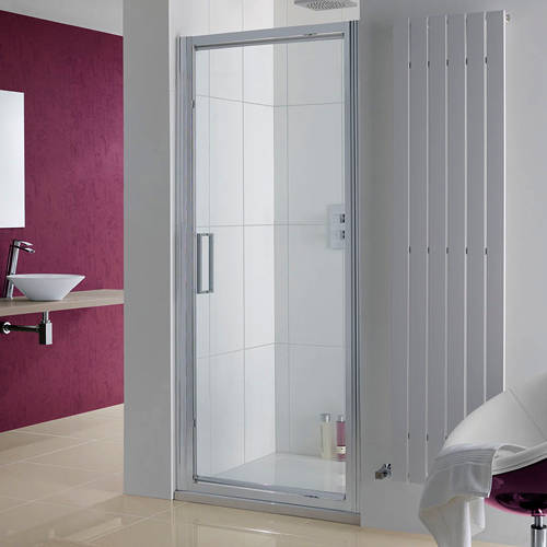 Additional image for Narva Pivot Shower Door With 8mm Glass (900x2000mm).
