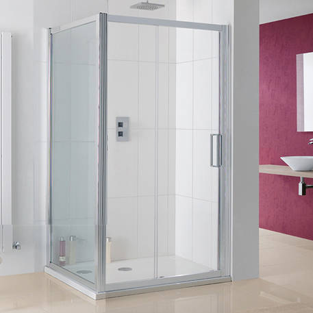 Additional image for Talsi Shower Enclosure, Slider Door 1100x1000x2000mm.