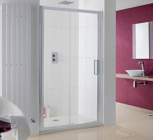 Additional image for Talsi Slider Shower Door With 8mm Glass (1100x2000).
