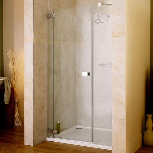 Additional image for 1400x1950 Hinged Shower Door & Glass Panels. Left Handed.