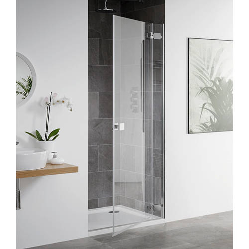Additional image for Barbados Frameless Hinged Shower Door (750x2000mm).