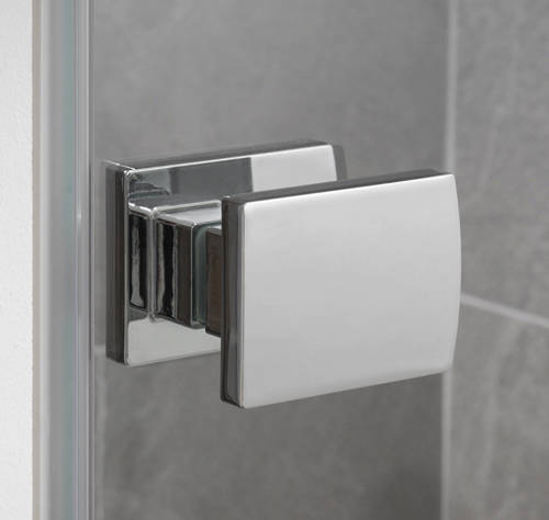 Additional image for Barbados Frameless Hinged Shower Door (800x2000mm).
