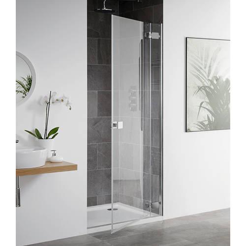 Additional image for Barbados Frameless Hinged Shower Door (1000x2000mm).