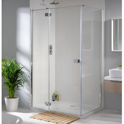 Additional image for Tobago Frameless Shower Enclosure 1400x1000x2000