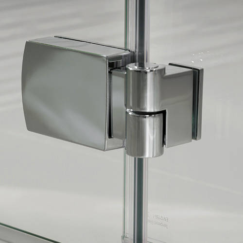 Additional image for Martinique Frameless Hinged Shower Door & Panel (1200x2000).